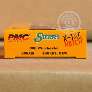 Picture of 308 WIN PMC SIERRA X-TAC MATCH 168 GRAIN OTM (20 ROUNDS)