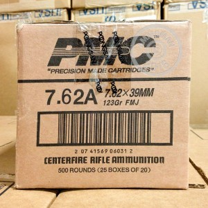 Picture of 7.62X39 PMC BRONZE 123 GRAIN FMJ (20 ROUNDS)