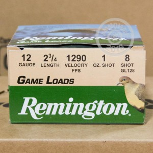 "Picture of 12 GAUGE REMINGTON GAME LOADS 2-3/4"" GRAIN #8 SHOT (25 SHELLS)"