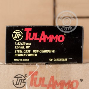 Picture of 7.62x39MM TULA CARTRIDGE WORKS 124 GRAIN HP (1000 ROUNDS)