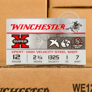 "Picture of 12 GAUGE WINCHESTER SUPER-X XPERT 2-3/4"" 1 OZ. #7 STEEL SHOT (100 ROUNDS)"