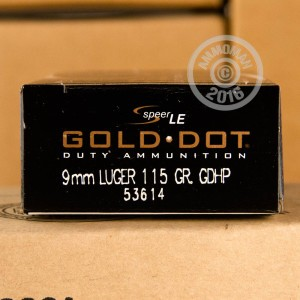 Picture of 9MM LUGER SPEER GOLD DOT 115 GRAIN JHP (50 ROUNDS)
