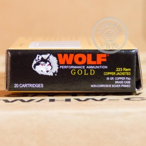 Picture of 223 REMINGTON WOLF GOLD 55 GRAIN FMJ BRASS CASED (1000 ROUNDS)