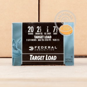 """Picture of 20 GAUGE FEDERAL TOP GUN 2-3/4"""" #7.5 SHOT (25 ROUNDS)"""