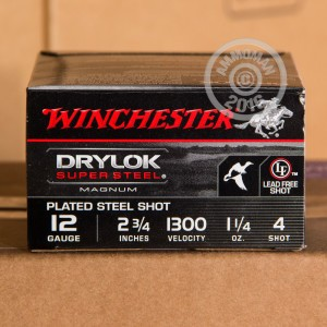 "Picture of 12 GAUGE WINCHESTER DRYLOK SUPER STEEL 2-3/4"" #4 (25 SHELLS)"