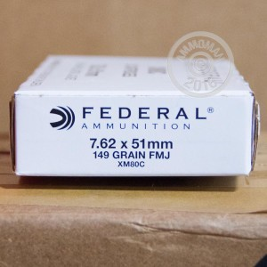 Picture of 7.62x51MM FEDERAL 149 GRAIN FULL METAL JACKET (500 ROUNDS)