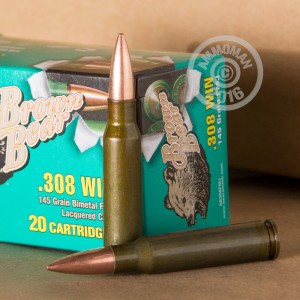 Picture of 308 WIN BARNAUL BROWN BEAR 145 GRAIN FMJ (500 ROUNDS)