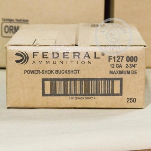 "Picture of 12 GAUGE FEDERAL POWER-SHOK 2-3/4"" 000 BUCK (5 SHELLS)"