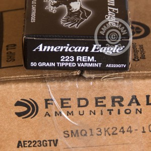Picture of .223 FEDERAL AMERICAN EAGLE 50 GRAIN TIPPED VARMINT (500 ROUNDS)