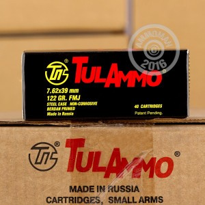 Picture of 7.62x39MM TULA AMMO 122 GRAIN FULL METAL JACKET (40 ROUNDS)