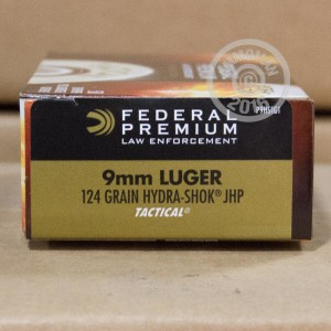 Picture of 9MM LUGER FEDERAL HYDRA-SHOK 124 GRAIN JHP (50 ROUNDS)