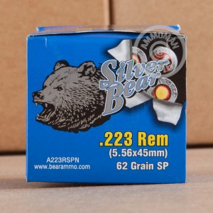 Picture of 223 REMINGTON SILVER BEAR 62 GRAIN SOFT POINT (20 ROUNDS)