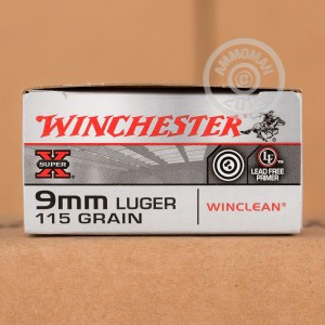 Picture of 9MM LUGER WINCHESTER WINCLEAN 115 BEB (50 ROUNDS)