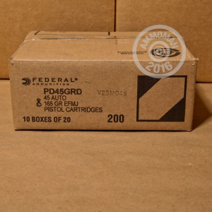 Picture of 45 ACP FEDERAL PREMIUM GUARD DOG 165 GRAIN EXPANDING FMJ (20 ROUNDS)