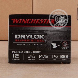"Picture of 12 GAUGE WINCHESTER DRYLOK SUPER STEEL 3-1/2"" BBB (25 ROUNDS)"