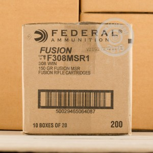 Picture of .308 WINCHESTER FEDERAL FUSION MSR 150 GRAIN SP (20 ROUNDS)