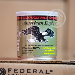 Picture of 5.56 NATO FEDERAL FRESH FIRE LAKE CITY M855 BALL 62 GRAIN FMJ (600 ROUNDS)
