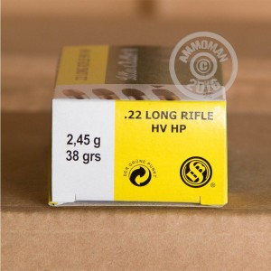 Picture of 22 LR SELLIER & BELLOT 38 GRAIN HP (50 ROUNDS)
