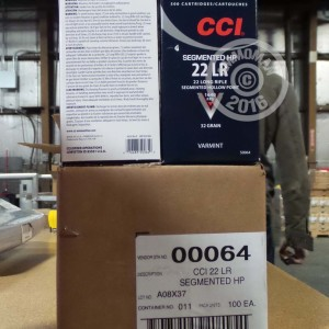 Picture of 22 LR CCI 32 GRAIN HP (500 ROUNDS)