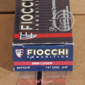 Picture of 9MM LUGER FIOCCHI SHOOTING DYNAMICS 147 GRAIN JHP (50 ROUNDS)