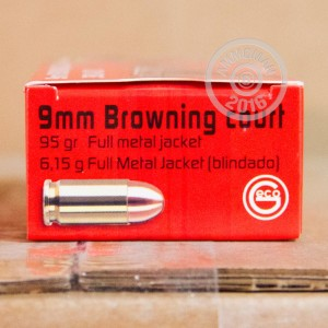 Picture of 380 ACP GECO 95 GRAIN FMJ (50 ROUNDS)