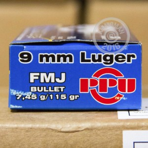 Picture of 9MM PRVI PARTIZAN 115 GRAIN FMJ (350 ROUNDS)