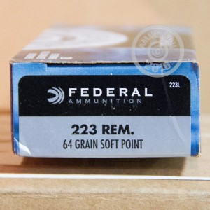 Picture of .223 REM FEDERAL POWER-SHOK 64 GRAIN SP (20 ROUNDS)