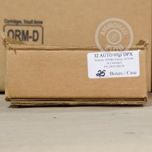 Picture of 32 ACP CORBON DPX 60 GRAIN SCHP (20 ROUNDS)