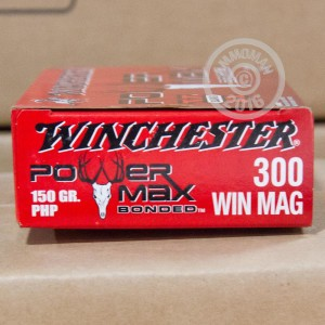 Picture of 300 WIN MAG WINCHESTER 150 GRAIN POWER MAX BONDED PHP