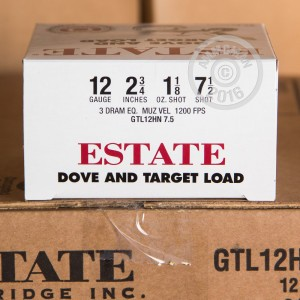 """Picture of 12 GAUGE ESTATE DOVE AND TARGET LOAD 2-3/4"""" #7.5 SHOT (25 ROUNDS)"""