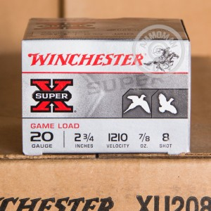 """Picture of 20 GAUGE WINCHESTER SUPER X  2-3/4"""" #8 SHOT (25 ROUNDS)"""