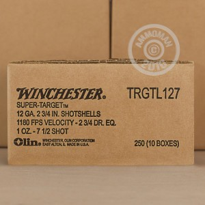 """Picture of 12 GAUGE WINCHESTER SUPER TARGET 2-3/4"""" 1 OZ. #7-1/2 SHOT (250 ROUNDS)"""