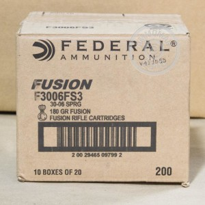 Picture of 30-06 FEDERAL FUSION 180 GRAIN FUSION (20 ROUNDS)