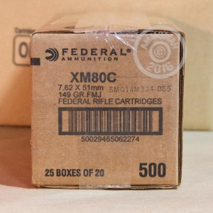 Picture of 7.62 NATO FEDERAL LAKE CITY M80 BALL 149 GRAIN FMJ (20 ROUNDS)