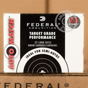 Picture of 22 LR FEDERAL AUTOMATCH TARGET 40 GRAIN LEAD ROUND NOSE #AM22 (325 ROUNDS)