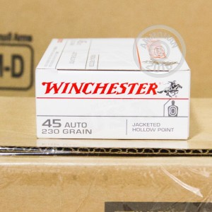 Picture of 45 ACP WINCHESTER 230 GRAIN JACKETED HOLLOW-POINT (500 ROUNDS)
