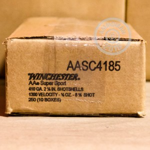 """Picture of 410 BORE WINCHESTER AA SPORTING CLAYS 2-1/2"""" 1/2 OZ #8.5 SHOT (25 ROUNDS)"""