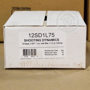 """Picture of 12 GAUGE FIOCCHI TARGET SHOOTING DYNAMICS 2-3/4"""" #7.5 SHOT (250 ROUNDS)"""