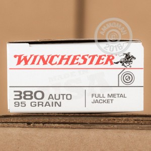 Picture of 380 ACP WINCHESTER 95 GRAIN FMJ (500 ROUNDS)