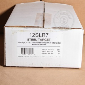 "Picture of 12 GAUGE FIOCCHI LOW RECOIL STEEL 2-3/4"" #7 SHOT (25 ROUNDS)"