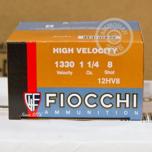 """Picture of 12 GAUGE FIOCCHI OPTIMA SPECIFIC HV 2-3/4"""" 1-1/4 OZ. #8 SHOT (25 ROUNDS)"""