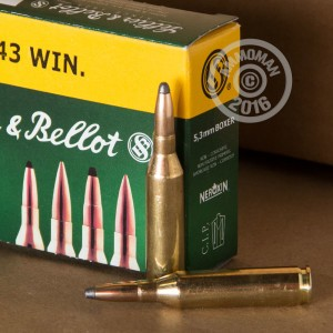 Picture of 243 WIN SELLIER & BELLOT 100 GRAIN SOFT POINT (20 ROUNDS)