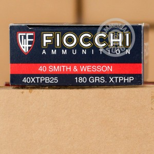 Picture of .40 S&W FIOCCHI XTP 180 GRAIN JHP (500 ROUNDS)