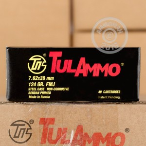 Picture of 7.62x39mm TULA 124 GRAIN FMJ (1000 ROUNDS)