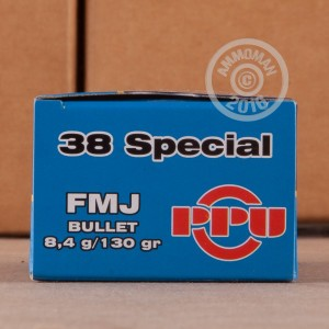 Picture of 38 SPECIAL PRVI PARTIZAN 130 GRAIN FMJ (50 ROUNDS)
