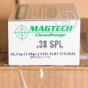 Picture of 38 SPECIAL MAGTECH CLEAN RANGE 158 GRAIN FEB (50 ROUNDS)