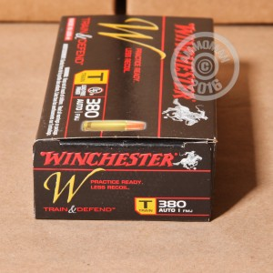 Picture of 380 AUTO WINCHESTER TRAIN & DEFEND 95 GRAIN FMJ (500 ROUNDS)