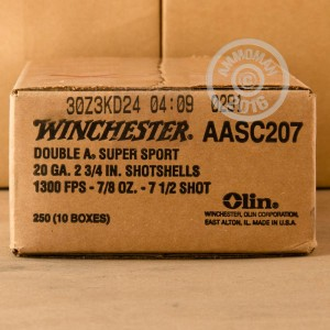 "Picture of 20 GAUGE WINCHESTER AA SPORTING CLAYS 2-3/4"" 7/8 OZ. #7.5 SHOT (25 ROUNDS)"