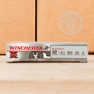 "Picture of 12 GAUGE WINCHESTER SUPER-X 3-1/2"" #4 MAGNUM BUCKSHOT (5 ROUNDS)"