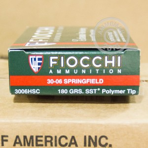 Picture of .30-06 SPRINGFIELD FIOCCHI SST 180 GRAIN JHP (200 ROUNDS)